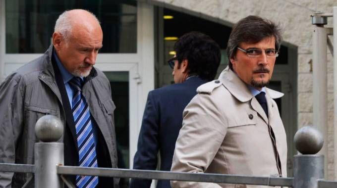 A sinistra Benvenuto Morandi, con lui l'avvocato Capelli