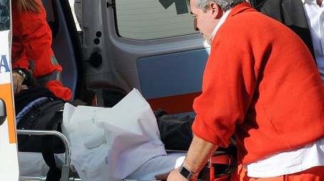 Sul luogo dell'incidente due ambulanze e un'auto medica