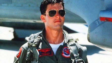 "Tom Cruise nel ruolo di Pete ""Maverick"" Mitchell"