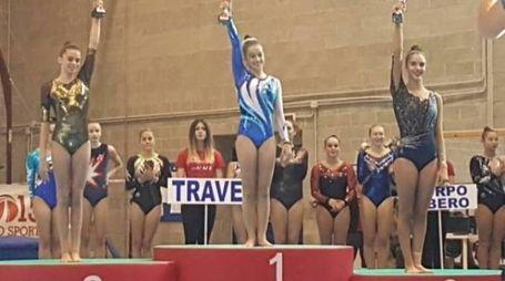 Anita Del Bo, 15 anni, sul gradino più alto del podio
