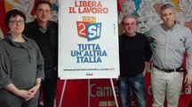 Da sinistra, Francesca Dibella, Franco Stasi, Ivan Cattaneo e Guido Scarpino