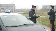 I carabinieri durante un controllo