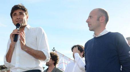 Alessandro Di Battista con Massimo Casiraghi a Lodi
