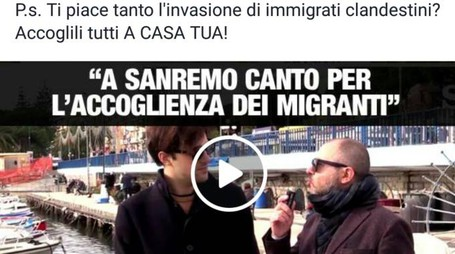 Post su facebook di Salvini