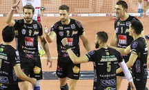 L'esultanza della Lube (foto Spalvieri-lubevolley.it)