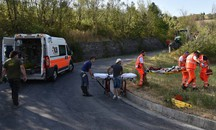 Incidente a Castrocaro (foto Fantini)