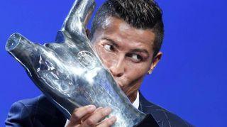 Uefa, la premiazione di Ronaldo a Montecarlo