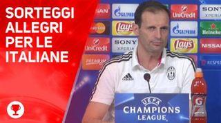 Sorteggi Champions, Juve e Napoli evitano le big