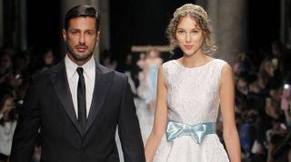 Fabrizio Corona, 'matrimonio' sulla passerella di Roccobarocco
