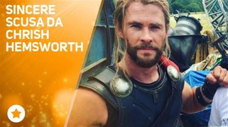 Chris Hemsworth: 'Sono stato superficiale""