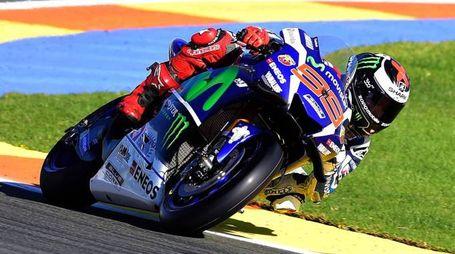 Gp di Valencia, Jorge  Lorenzo a bordo della sua Yamaha