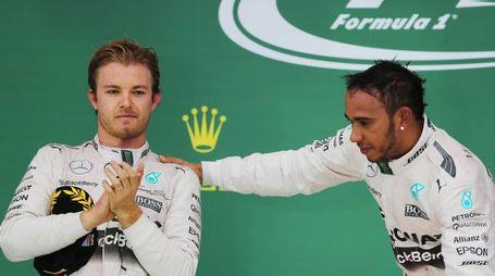 Hamilton e Rosberg (LaPresse)
