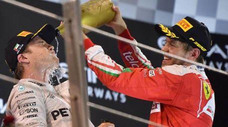 Nico Rosberg e Sebastian Vettel (Afp)