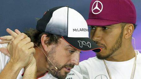Alonso e Hamilton (Ansa)