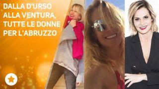 Il dramma in Abruzzo:il pensiero dei vip per le vittime