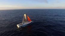 La barca di Colman dopo la riparazione