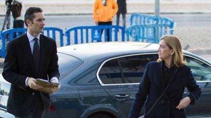 Inaki Urdangarin con la moglia l'Infanta Cristina (Afp)