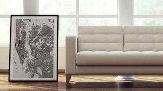 Decorare le pareti con le mappe di Nativah|Chaya