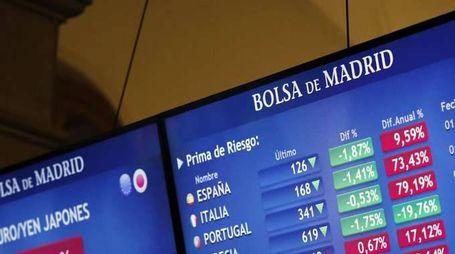 Borsa: finale in rosso con Wall Street
