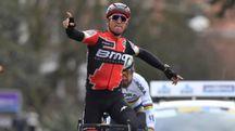 Per il secondo anno consecutivo, Van Avermaet infilza Sagan (foto Belga)