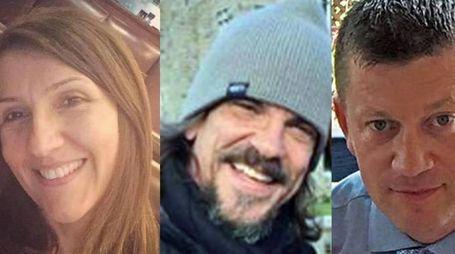Le tre vittime dell'attentato di Londra (Ansa)