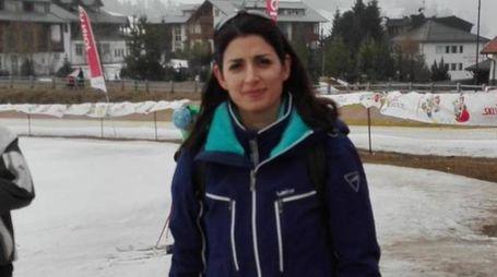 Virginia Raggi in vacanza sull'Alpe di Siusi (Ansa)