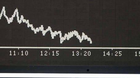 Borsa:Europa in calo dopo Wall Street