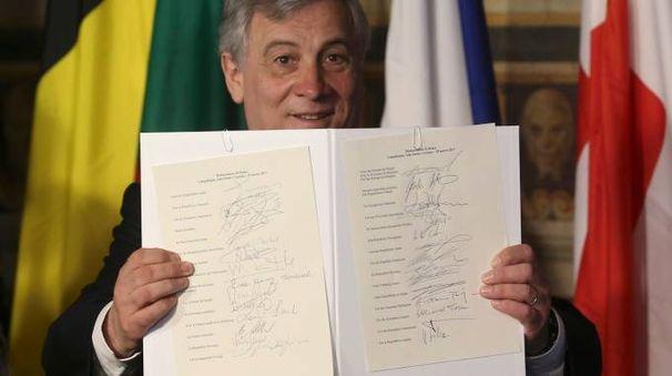 Dichiarazione di Roma, firmano tutti i 27. Capitale blindata.