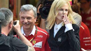 Nicole Kidman al box Ferrari