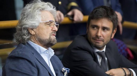 Beppe Grillo e Alessandro Di Battista (Ansa)
