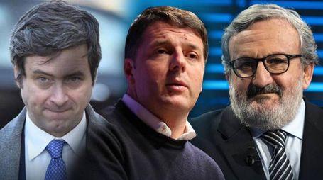 Primarie Pd, sfida a tre: Orlando, Renzi, Emiliano (Ansa)