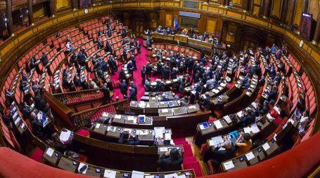 Il Senato durante il voto di fiducia sul decreto sicurezza (Ansa)