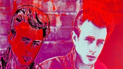 James Dean in Warhol Talking Pop a Londra