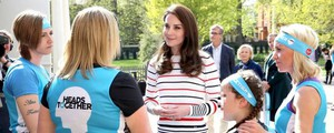 Kate Middleton all'incontro con il team Heads Together (Courtesy of Luisa Spagnoli)