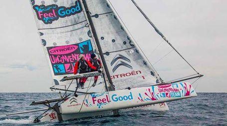 I Malingri sul catamarano 'Felle Good'