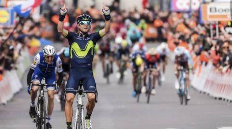 Alejandro Valverde vince la Liegi Bastogne Liegi (Ansa)