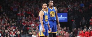 Stephen Curry e Kevin Durant (LaPresse)