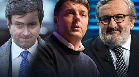Primarie Pd. I candidati Andrea Orlando, Matteo Renzi e Michele Emiliano (Ansa)
