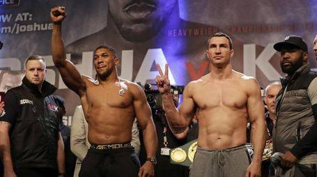 Anthony Joshua e Wladimir Klitschko (Ansa)