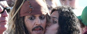 Johnny Depp a Disneyland (Ansa)