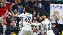 Liga: Real trema, Marcelo lo salva a 86'
