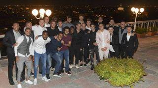 Totti, ultima cena stellata con la squadra