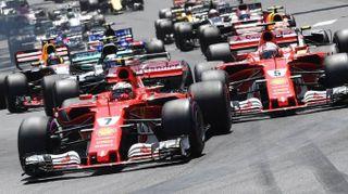 F1 Montecarlo 2017, bolidi in città