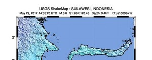 Potente terremoto di 6.6 in Indonesia