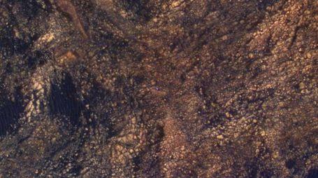 Un piccolo rover blu (Foto: NASA/JPL-Caltech/Univ. of Arizona)