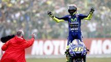 Rossi vince il Gp di Assen 2017 (Ansa)