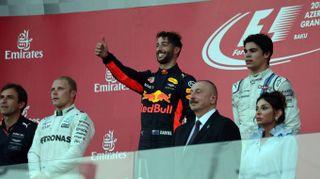 F1 Gp Baku 2017, vittoria di Ricciardo
