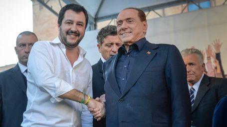 Matteo Salvini e Silvio Berlusconi (Imagoeconomia)