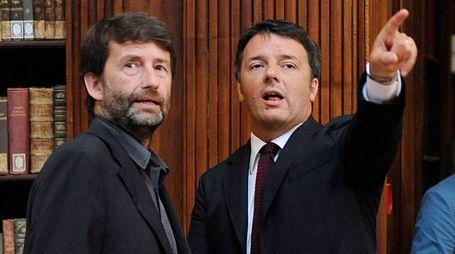 Dario Franceschini e Matteo Renzi (ImagoE)