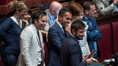 I parlamentari del M5S alla Camera (Lapresse)